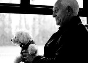Dog photographer: Amie Lipley's photograph of an old man and dog on the bus