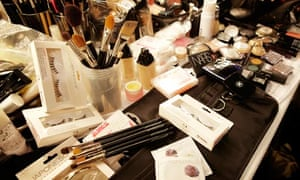 The makeup materials Alex Byrne used at Aminaka Wilmont