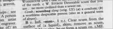 Definition of scumbag