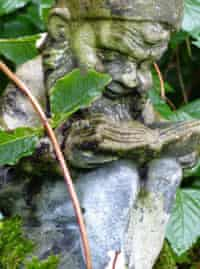 A gnome in Catharine Howard's garden