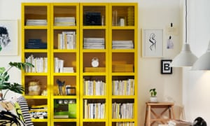 Yellow billy bookcase from ikea