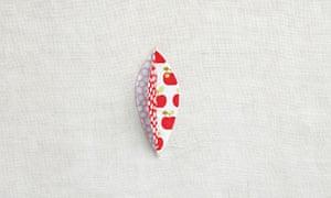 Apple pin cushion step 2