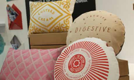 Nikki McWilliams biscuit cushions at the 2012 Home show
