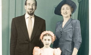 Michele Hanson with her mother and father