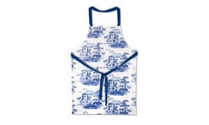 Pimpernel blue and white apron