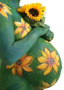 Sunflower bump painting