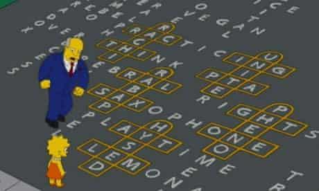 Simpsons hopscotch