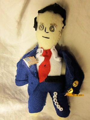 Obama craft: Romney voodoo doll