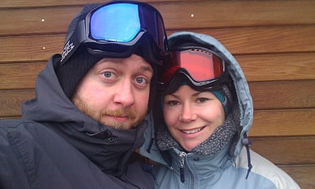 Rachel Dixon and John Ashdown on a couples ski trip