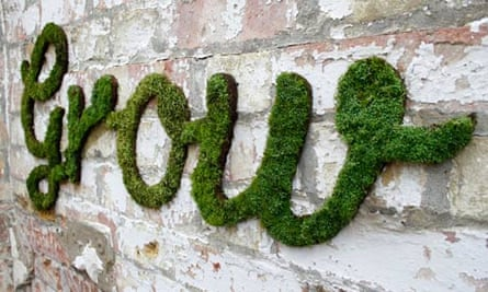 Anna Garforth's moss typography