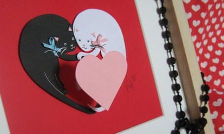 Victoria's 'Love cats' collage for Valentine's day