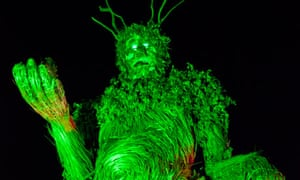 A Green Man at the Green Man festival
