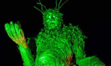 A Green Man at the Green Man festival