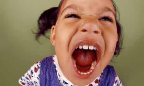 Toddler throwing a tantrum