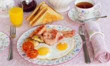 A full English breakfast.