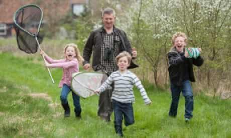 Stephen Moss and children