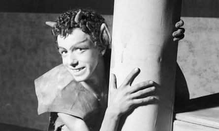 Puck, in A Midsummer NIght's Dream at the Strand Theatre, January 1942.