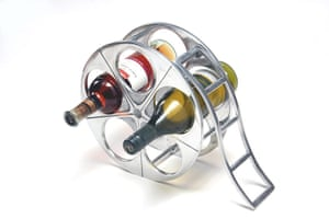 India meets china: Film reel wine rack, £40, by Happily Unmarried