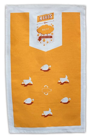 tea towels: Heads or tails tea towel