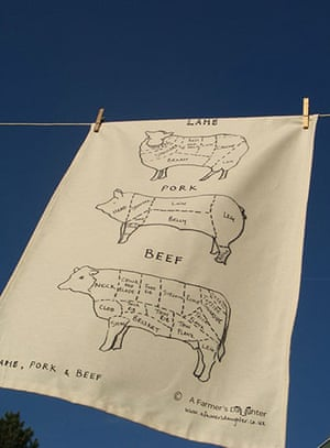 tea towels: Meat cuts tea towel