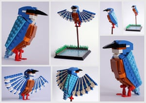 Lego birds: Kingfisher made from Lego by Thomas Poulsom