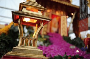 Chelsea flower show: A lantern at the Thai exhibit