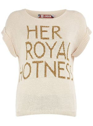 Jubilee tat: 'Her Royal Hotness' sweater