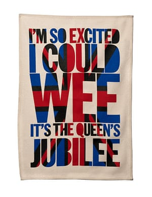 Jubilee tat: Diamond Jubilee tea towel