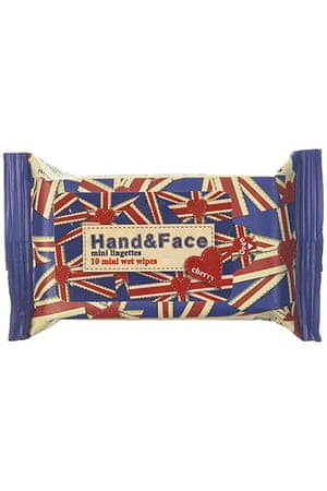 Jubilee tat: Union Jack wet wipes