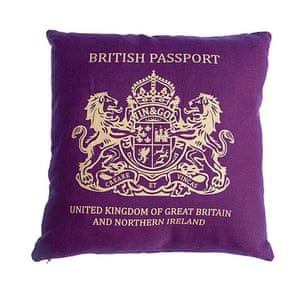 Jubilee tat: British passport cushion