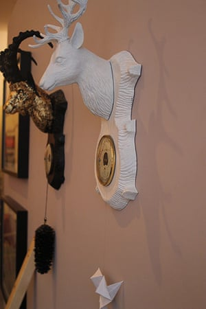 Art Haus project: Sculptures hang on the Arthaus bedroom wall