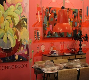 Art Haus project: The dining room at Arthaus featuring work by Sevan Garo and Tahnee Lonsdale