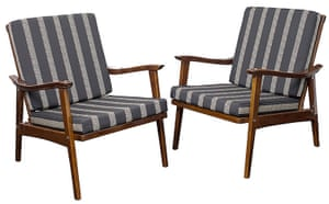 Soviet interior style: Pair of armchairs frin the early 1960s