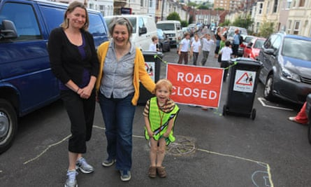 Alice Ferguson and Amy Rose on Birch Road in Bristol