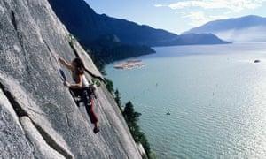 Rock climbing in Canada