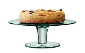 Laura Ashley Red Glass Cake Stand