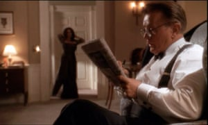 Jed Bartlet solves the crossword in The West Wing