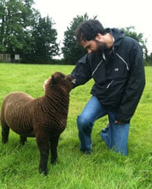 Tom and Grayling the lamb