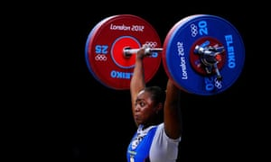 Rosa Tenorio Silva of Ecuador competes in the women's 69kg weightlifting at the 2012 Olympic Games