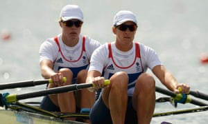 Team GB's Anna Watkins and Katherine Grainger compete in the Olympics 2012 women's double sculls.