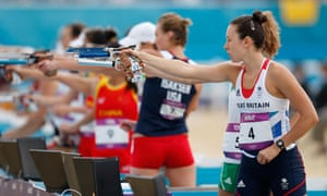Samantha Murray on her way to silver in the women's modern pentathlon at the London 2012 Olympics.