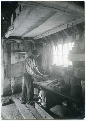 Great Dixter: Christopher Lloyd in the potting shed, 1950s