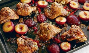 Chicken, plums, soy
