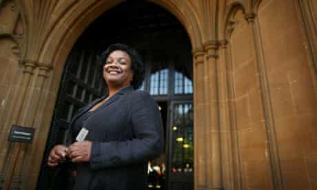Labour of love … Diane Abbott outside the Great Hall, Westminster.
