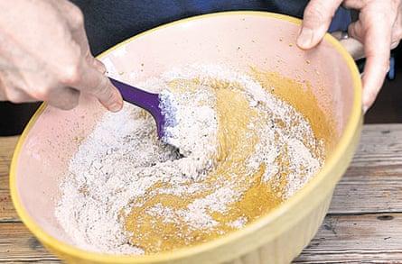 Spiced olive oil cake step four