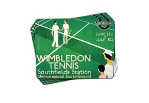 Tube anniversary products: Wimbledon tennis tube placemats