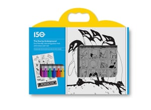 Tube anniversary products: Placemat colouring kit