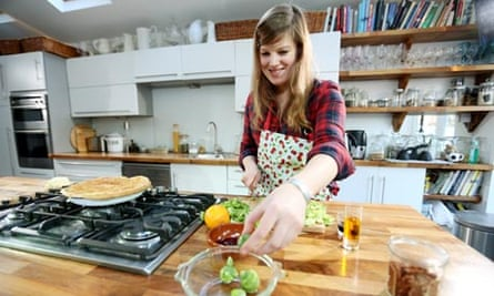 Felicity Cloake cooking in her kitchen