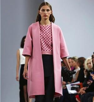 A pink coat at the Osman show.
