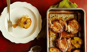 10 best apples: Roasted pork cutlets with baked apple, amontillado and rosemary